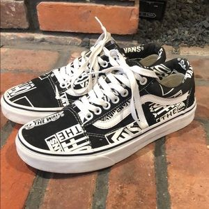 Vans Off The Wall print lace up sneakers size 8